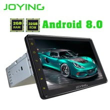 JOYING Official Android 8 0 GPS Car radio HD 8 1 Din Touch Screen Bluetooth Auto