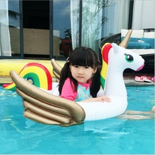 New Kids Unicorn swimming circle with Seat Inflatable Baby Pool Float inflatable Swimming Toys Water Fun