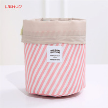 Large Capacity Round Waterproof Makeup Bags Travel Cosmetic  Bag Neceser Women Cosmetics Toiletries Organizer Storage toolbox35 цена 2017