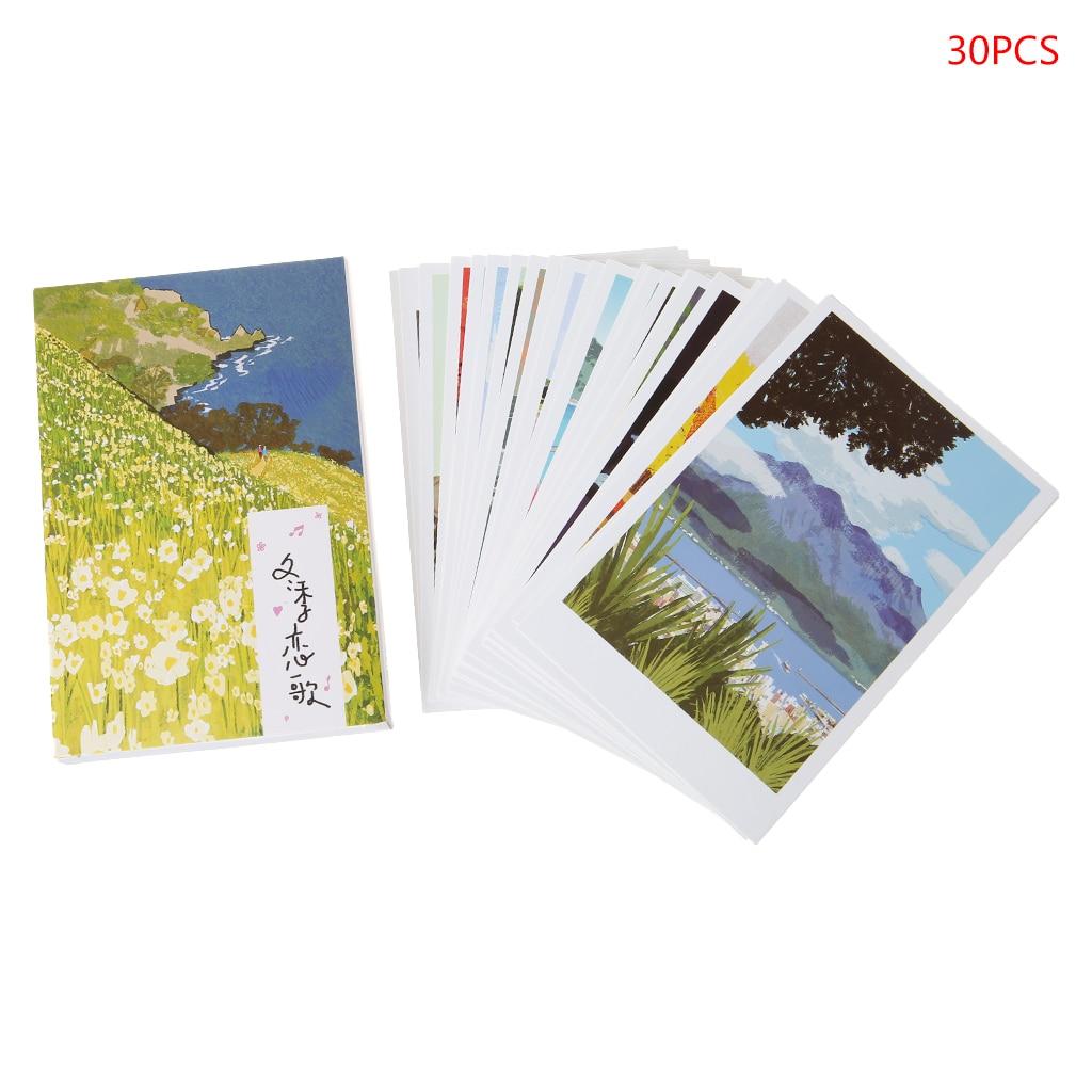 30 Vellen Winter Sonata Schilderijen Retro Vintage Postcard Christmas Gift Kaart Wens Poster Kaarten #326