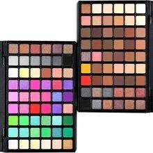 POPFEEL Professional Glitter Eye Shadow Pallete 54 Colors Shimmer Matte Eyeshadow Makeup Palette Set Kit Cosmetic Beauty Tools