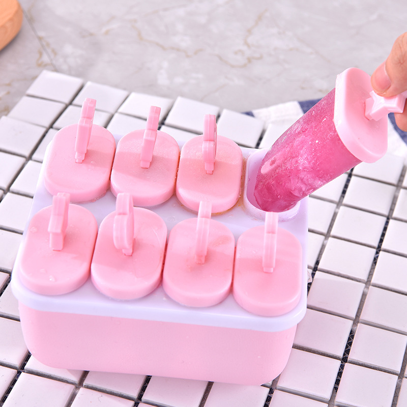 Ice Cream Popsicle Molds Cooking Tools Rectangle Shaped Reusable DIY Frozen Ice Cream Pop Baking Moulds image