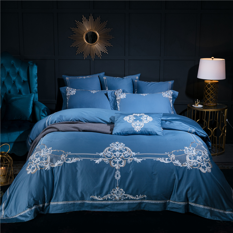 4/6/7Pcs Luxury Egypt Cotton European Retro Bedding Set  Embroidered Duvet cover set Bed Sheet Pillowcases Queen King Size4/6/7Pcs Luxury Egypt Cotton European Retro Bedding Set  Embroidered Duvet cover set Bed Sheet Pillowcases Queen King Size