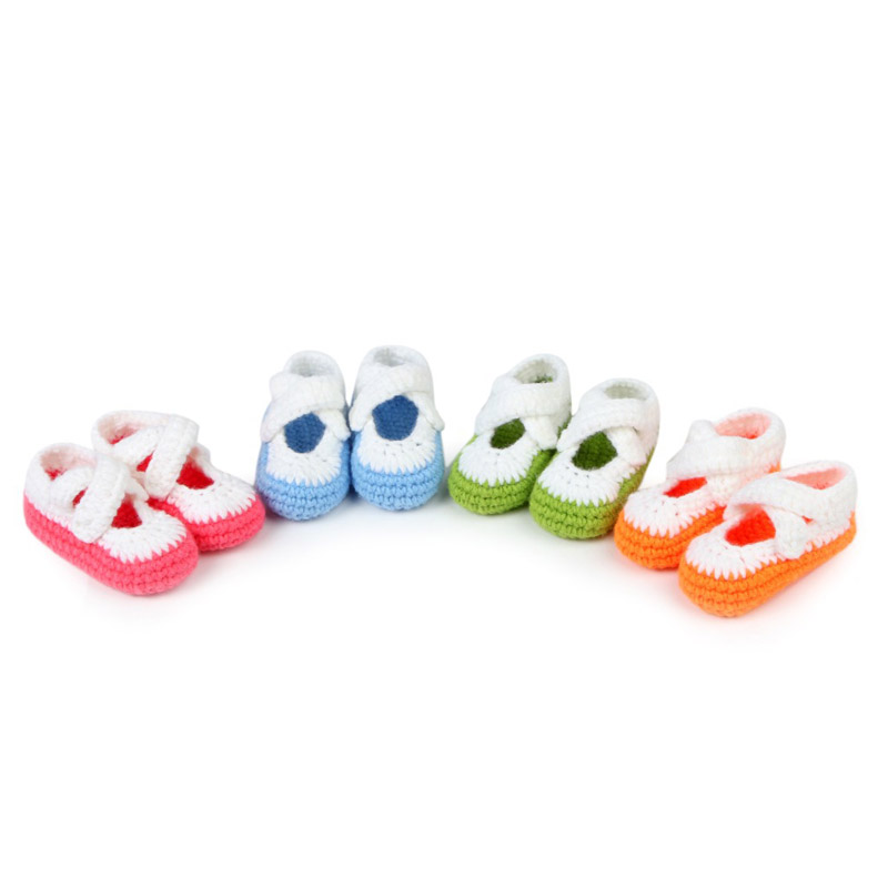 Multicolor-Handmade-Baby-Shoes-Crochet-Baby-Booties-Knitting-Socks-for-Newborn-10-cm-3