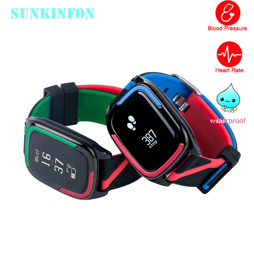 Sports Fitness Band Smart WristBand Watch Bracelet Blood Pressure Heart Rate Monitor Pedometer for iPhone 7