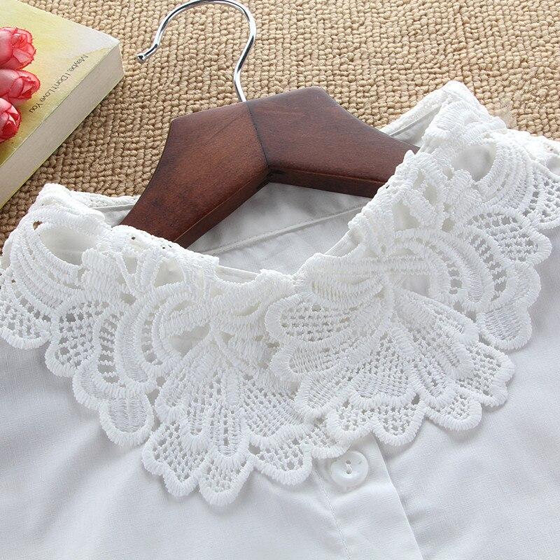 Womens Lace Fake Collar Blouse Detachable Collar Kraagje Nep Dames Col Summer Lapel Dress Accessories Bluz Croptop Necklace