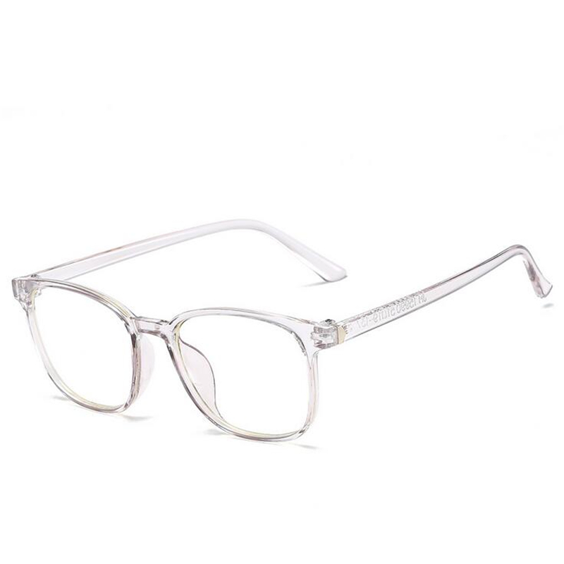 Square Eye Glasses Frames For Men Women Ladies Flat Mirror Clear Frame For Myopia Eyeglasses Retro PC Frame Fake Glasses