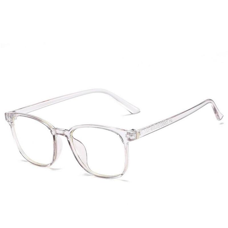 Square Eye Glasses Frames For Men Women Ladies Flat Mirror Clear Frame For Myopia Eyeglasses Retro PC Frame Fake Glasses