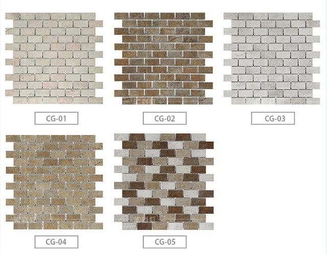 Antichi mattoni piastrelle di mosaico in ceramica piastrelle balcone