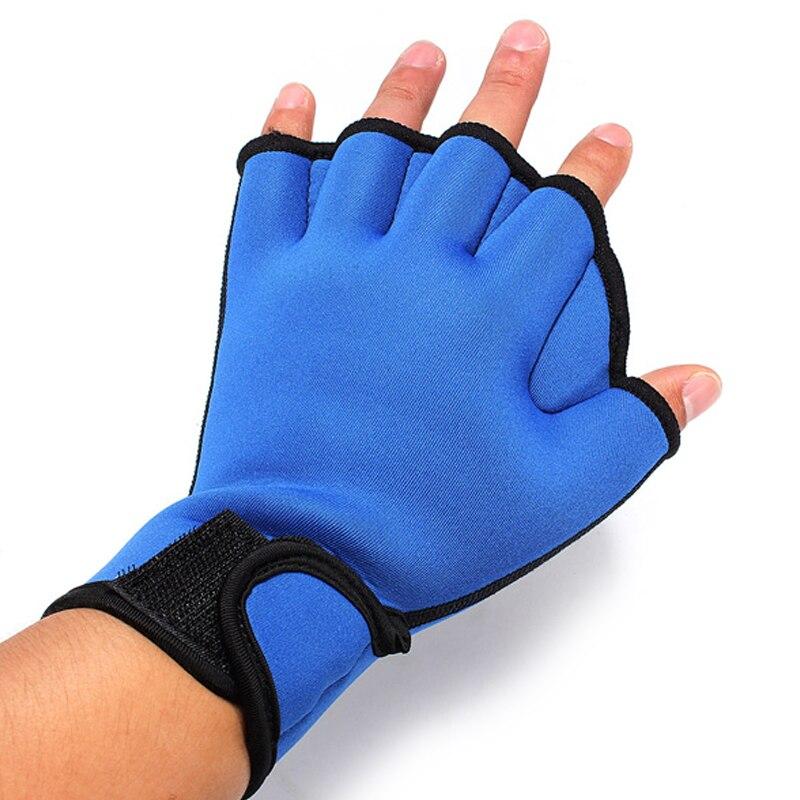 1 par de aletas mano surf ranas palmeados aletas guantes dedos paletas de formación para la natación
