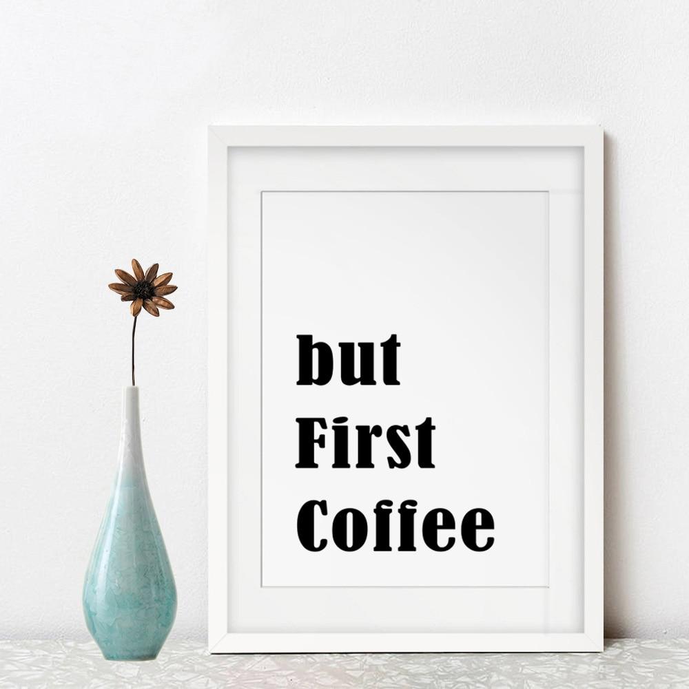 Online Shop But First Coffee Wall Art Kitchen Home Decor Inspiration