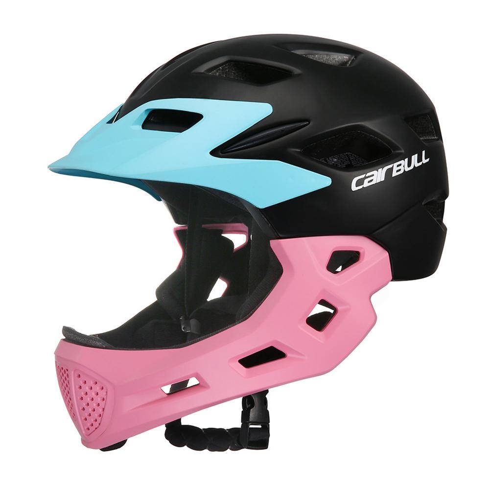 Casque enfants plein visage couvert vélo équitation enfants patinage ski Scooter Sport sécurité garde détachable casque de vélo