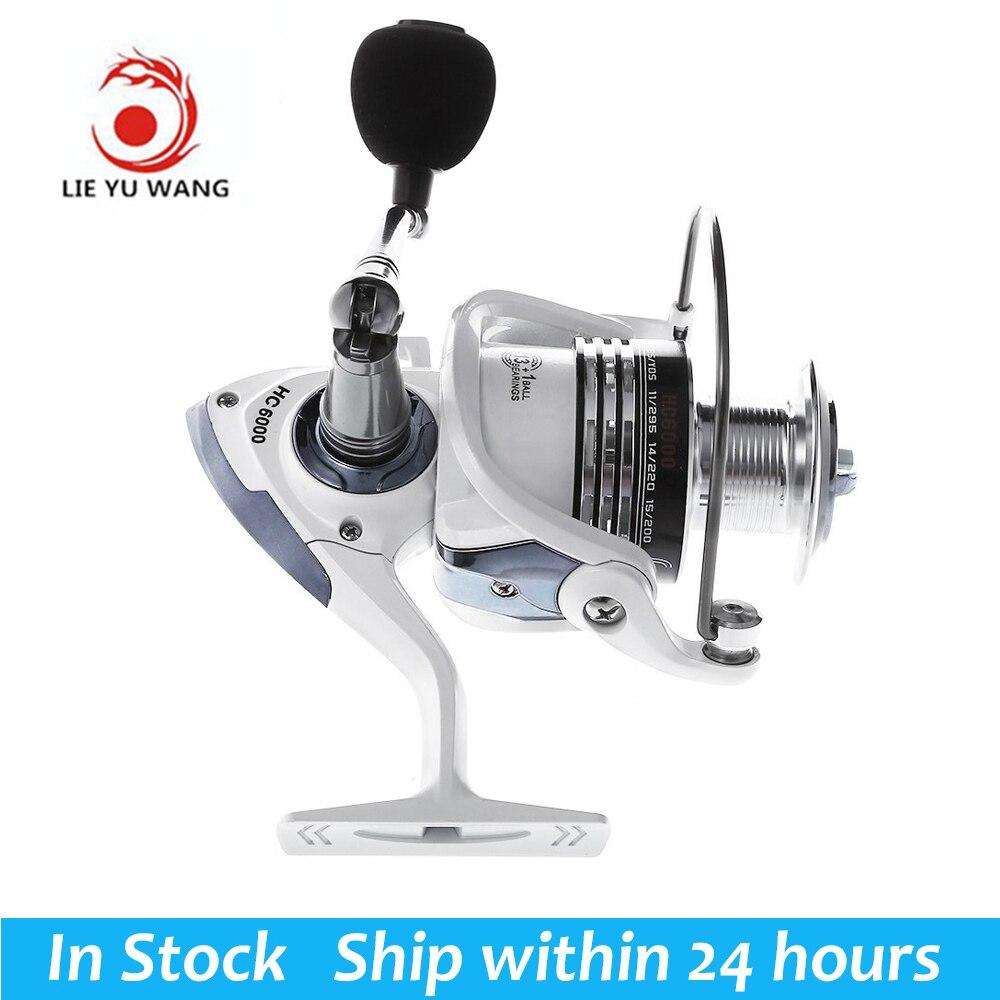 Envío Gratis LIEYUWANG 13 + 1BB 5,1: 1 carrete de pesca intercambiables con mango plegable automático de carrete de la pesca línea de fundición