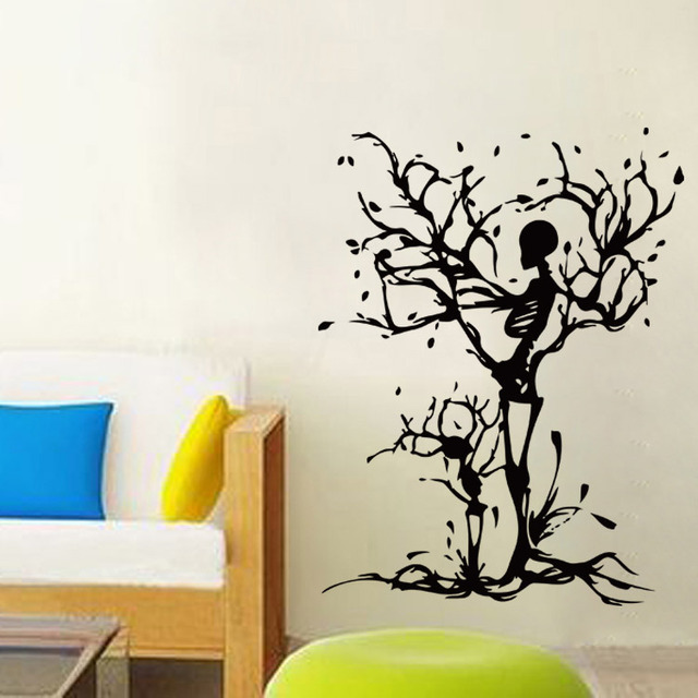 Skeleton tree maternal love sitting room adornment bedroom pvc wall stickers