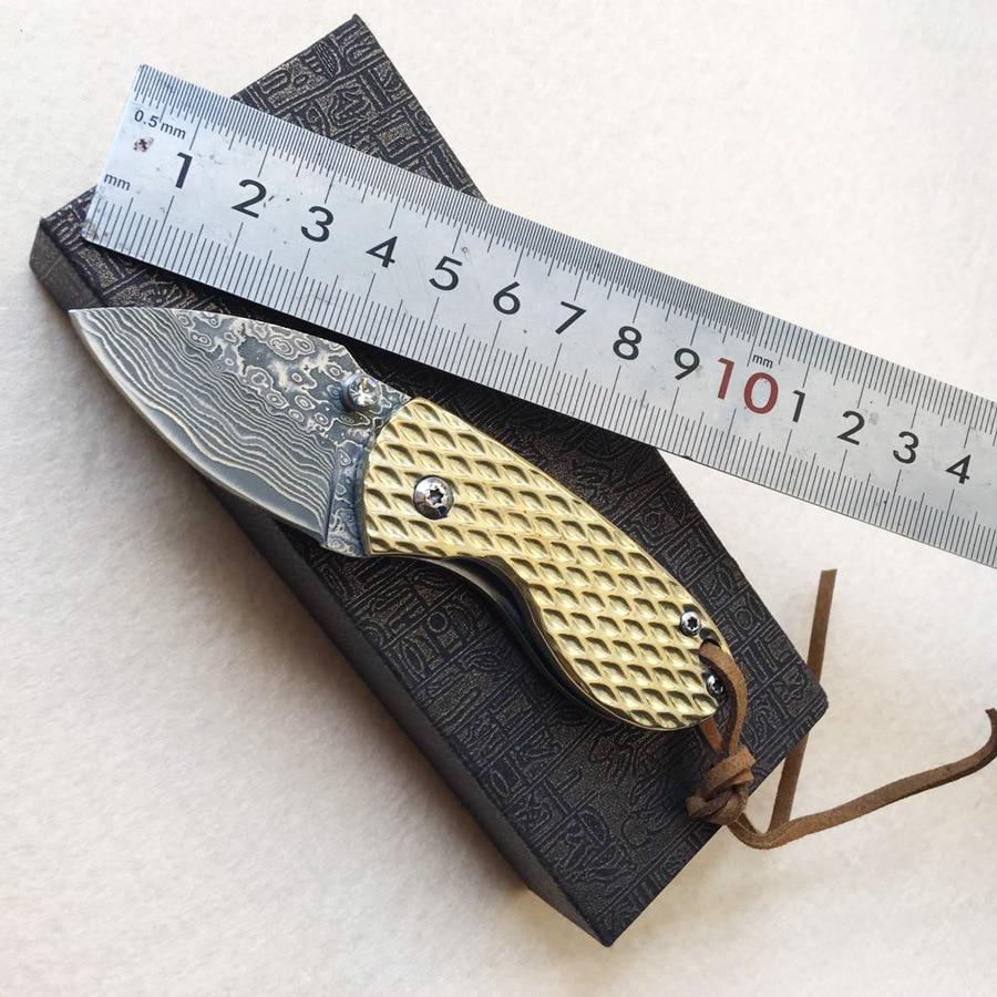 folded steel kitchen knives pineapple damascus steel folding knife mini folding knife