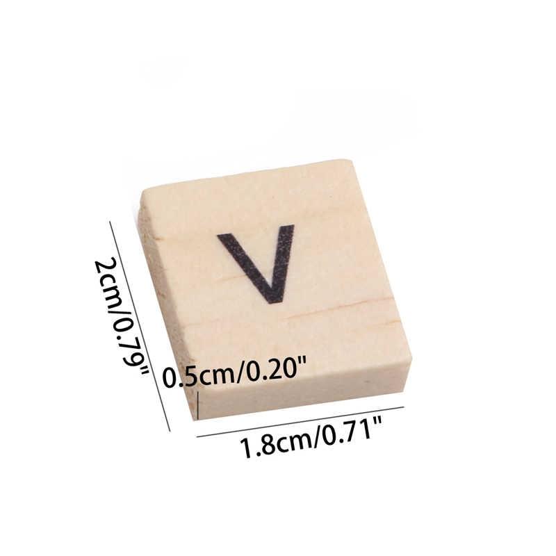 100 шт/партия деревянная алфавитная плитка черные буквы для рукоделия дерево 2019 NewRamadan фестиваль GiftRamadan фестиваль подарок