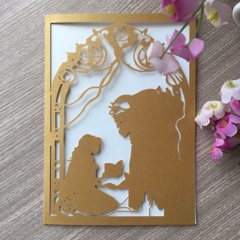 Us 68 9 50pcs Lot Romantic Fairy Tale Theme Wedding Invitation Card Birthday Party Invitation Card Greeting Card In Cards Invitations From Home