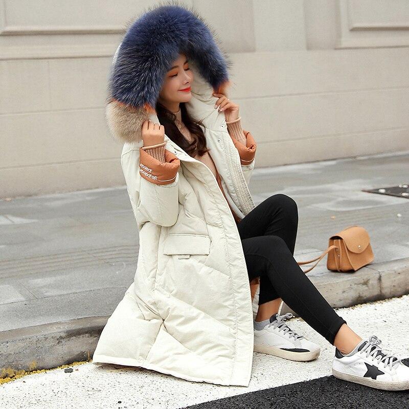 Manteau noir Coton Rembourré Long Feminina Femmes Lâche Ukraine 2019 Beige J435 Coloré Vêtements D'hiver Down Veste Parka Chaude Épaissie Moyen xHxqZ8zA