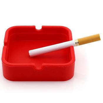 Accessori Per il fumo Flessibile e flessibile Morbido Sigaro Ash Tray Portatile della Gomma di Silicone Piazza Weed Posacenere Sigaretta Holder