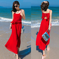 2016 Bohemian Summer Jumpsiut Women Chiffon Backless Rompers Womens elegant Jumpsuit Girl's Overalls Wide Leg Pants Beach Wear