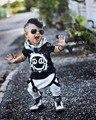 2016 Лето Одежда для Новорожденных Наборы Ø Горла Шорты + Брюки Baby Boy Одежда Малыша Дети Новорожденный Наряды Детские Kleding Meisje