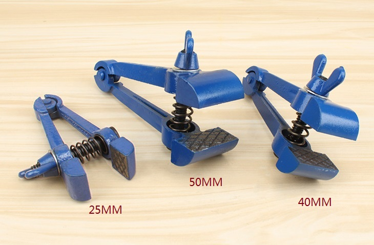 Hand Vice 160mm Long Clamp Jewelers Hand Tool Hand Held Vise Blue