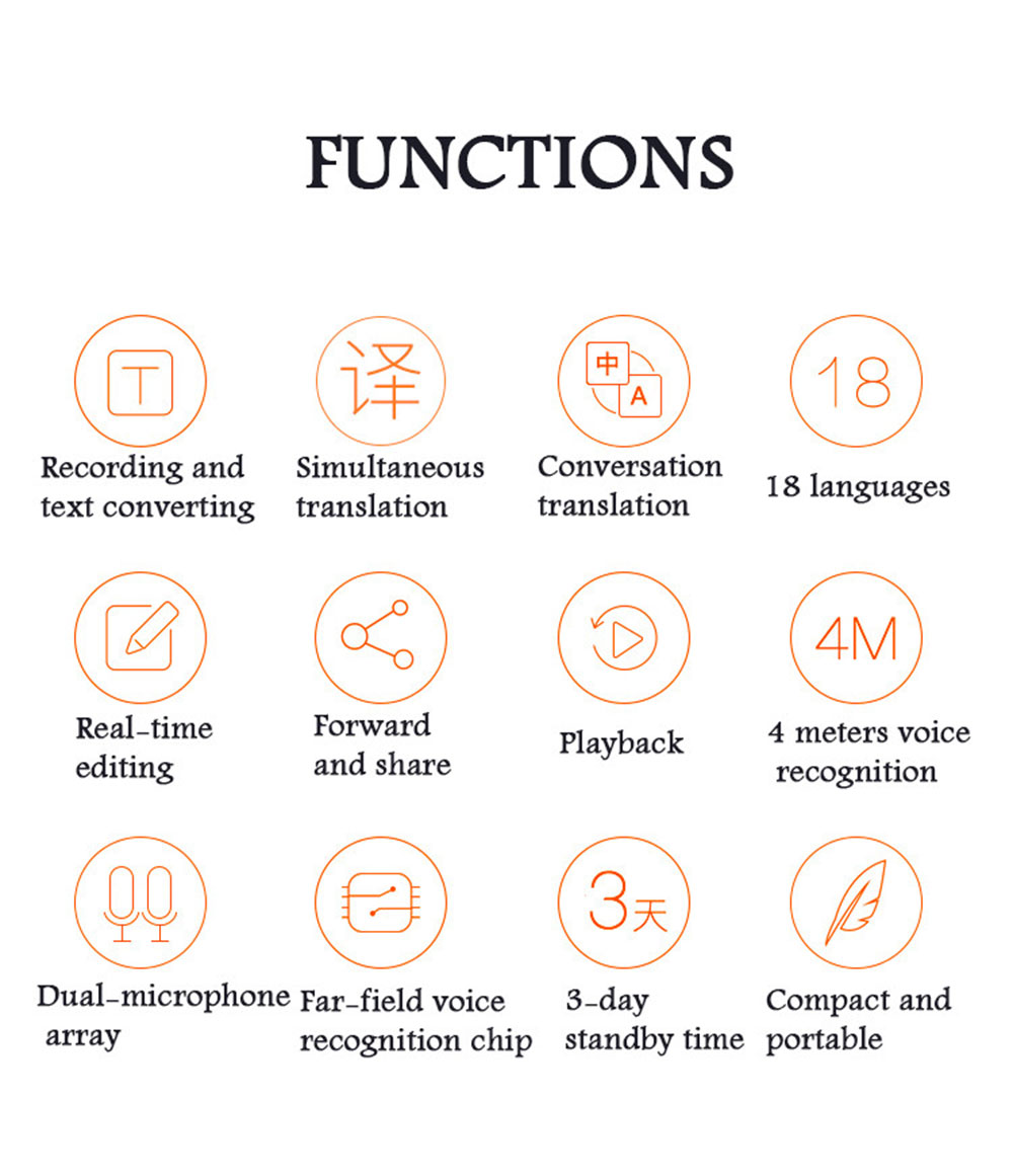 Pocket Language Translator Voice Languages Translation Spanish English French Russian Real-time Multi Instant Translator Device 27
