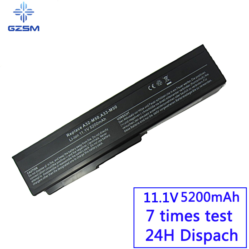 GZSM Laptop Battery A32-M50 For Asus N53S N53SV A32-N61 A32-X64 Battery For Laptop N53 M50s A33-M50 N61J N61D N61VG  N61JA N61JV