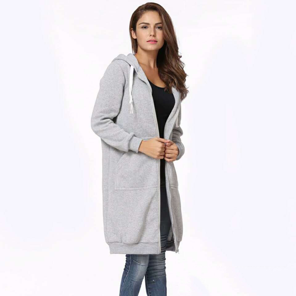 2017Women Basic coats solid Women thick   trench   hooded Coats female   trench   coat Casual Outwear YWX11