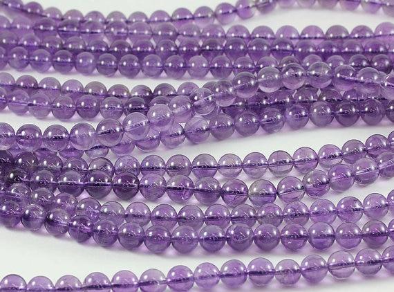 Amethy st 4,6,8,10,12, mm.Gorgeous чисто лилаво AA качество гладка кръгла Amethys t.Natural камък мъниста. Мъниста за ръчно изработени бижута