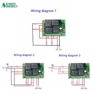 Image 5 - 433 Mhz Universele Draadloze Afstandsbediening Schakelaar DC12V 4CH Relais Ontvanger Module En 5 Stuks Rf Afstandsbediening 433 Mhz Zender