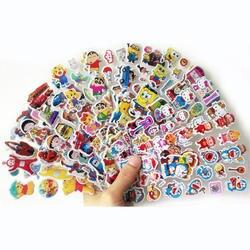 8 шт./лот с рисунком модный бренд игрушки для детей Мультяшные 3D наклейки детские для мальчиков и девочек ПВХ наклейки объемные наклейки