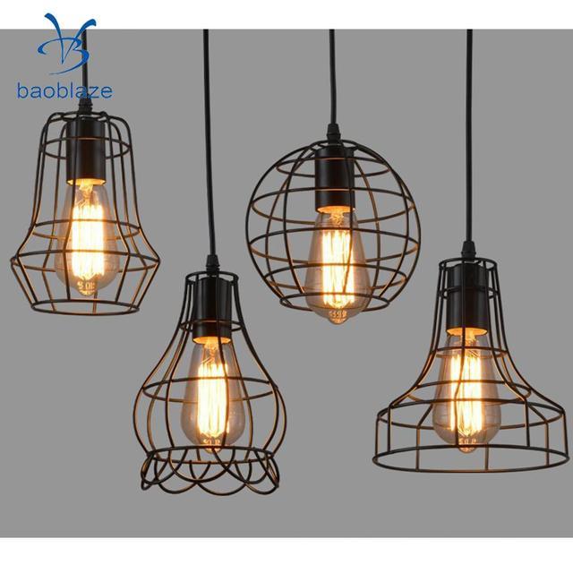 Baoblaze iron wire cage hanging lamp shade pendant light chandelier baoblaze iron wire cage hanging lamp shade pendant light chandelier shades keyboard keysfo Images