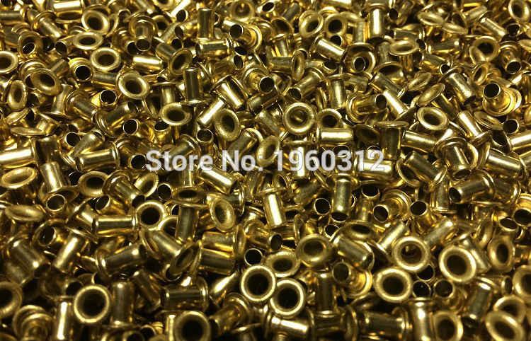 500 ピース/ロット M0.9 (d) * 2.5 ミリメートル/3 ミリメートル (L) 真鍮/ない銅中空リベット両面回路基板 pcb 0.9 ミリメートルビア爪リベット