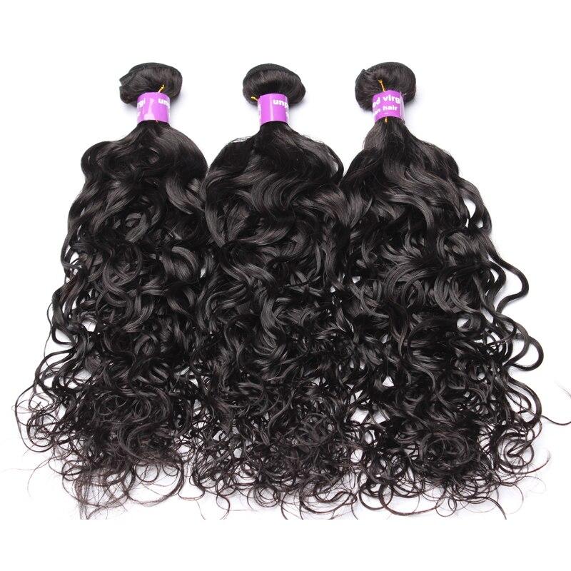 Vague d'eau cheveux humains armure paquets cheveux vierges brésiliens non transformés pour les femmes couleur naturelle Extension de cheveux CARA cheveux 3 pièces