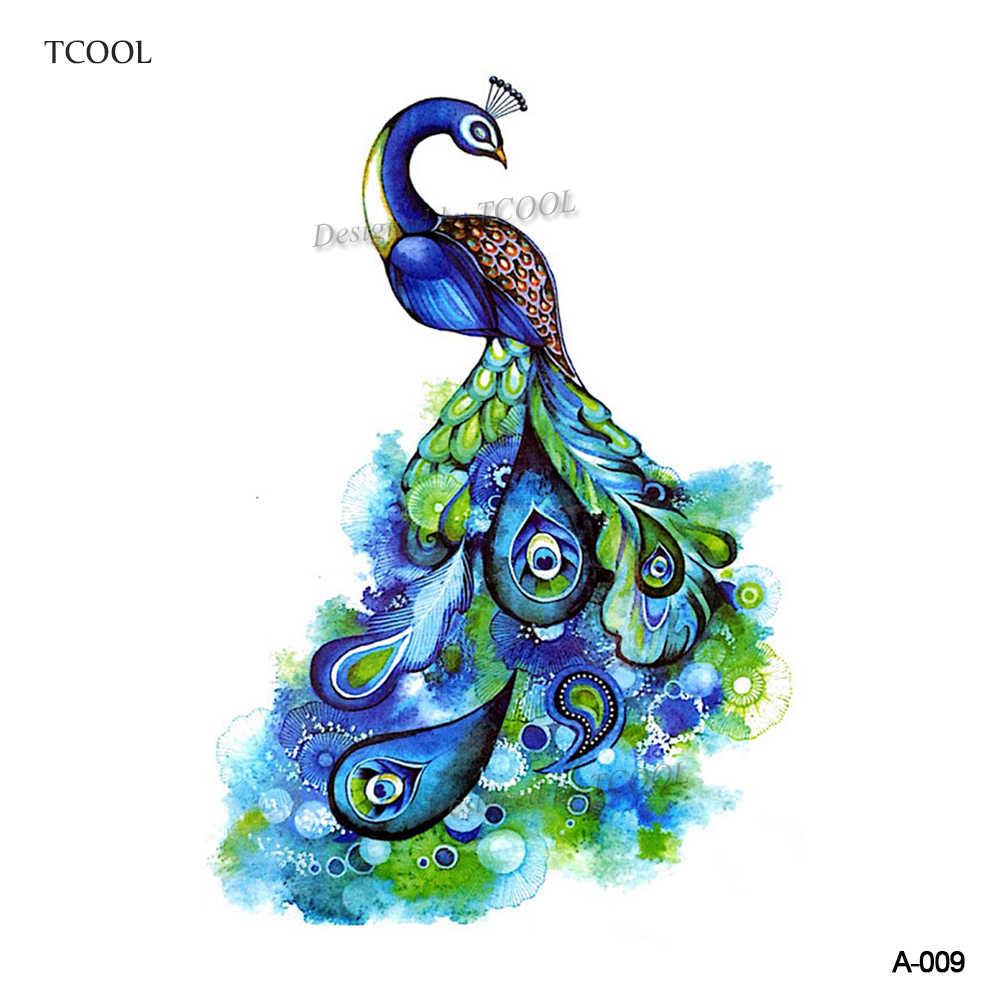 HXMAN オウムの一時的なタトゥーステッカー子供の手ボディーアート鳥ホットデザイン偽の女性の防水タトゥー紙 9.8 × 6 センチメートル A-062