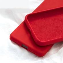 Роскошный чехол из жидкого силикона для iPhone SE 2020 XS Max XR 6S iPhone 7 8 Plus 6Plus 11 Pro Max, мягкая задняя крышка для сотового телефона