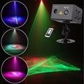 SUNY 2 объектива RG Aurora Lightning лазерный свет пульсация RGB полноцветный светодиодный сценический домашний диджейский свет для вечеринки украшени...