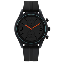 black mens watch Analog Quarts Watches Men Wrist Watch Casual Clock high quality silicone strap