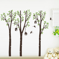 Artistic Trees Bird Woods Vinyl Wall Sticker For Kids Room Decoration house Living Room Bedroom Decor Wall Decal Wallpaper Mural