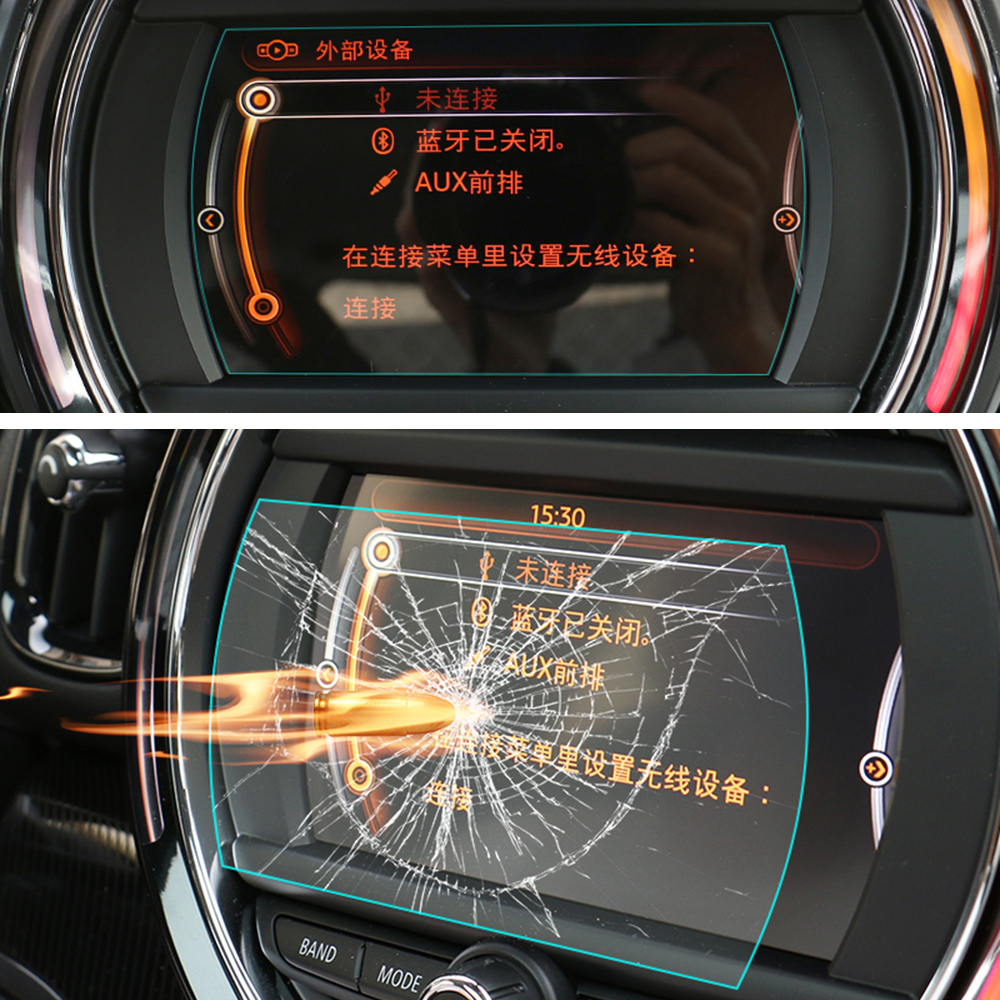Car Protective Tempered Glass Instrument Screen Navigation Sticker For MINI Cooper F54 F55 F56 F57 F60 Countryman Accessories