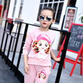 New Baby Girls Suits Korean Fashion Spring Autumn Children's Casual Cotton Carton Sports Shirt+Pant Two Piece For 6-15Y Hot Sale