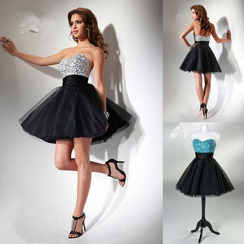 Sweetheart a Line Black Homecoming Dress