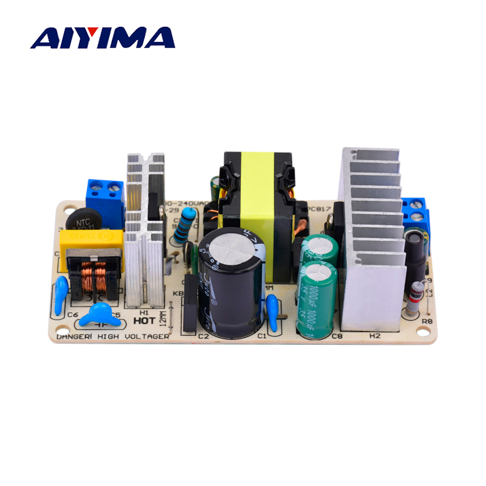 AIYIMA AC 110/220 v A DC 12 v 8A 100 w DC Modulo di Alimentazione Switching Power Supply BoardAIYIMA AC 110/220 v A DC 12 v 8A 100 w DC Modulo di Alimentazione Switching Power Supply Board