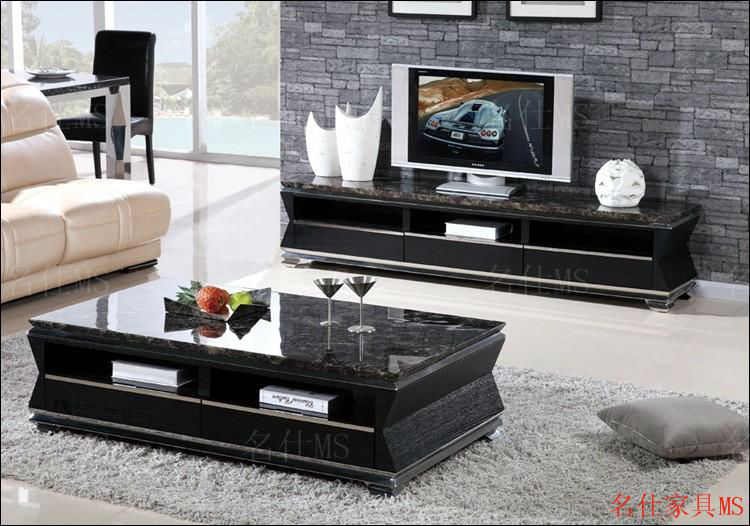 Several Marble Coffee Table Long Stainless Steel Frame Solid Wood - Long marble coffee table