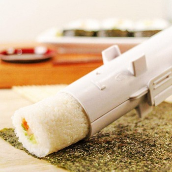 Compact Size Home Kitchen Manual Roll Sushi Making Tools Practical PP Cylindrical Barrel DIY Sushi Mold Gadgets Egg Boilers