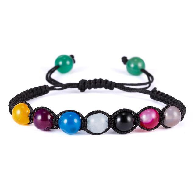 7 Chakra Buddha Segne Natürliche Stein Yoga Armband Für Frauen Schwarz Lava Healing Balance Perle Reiki Gebet Weben Armbänder Schmuck