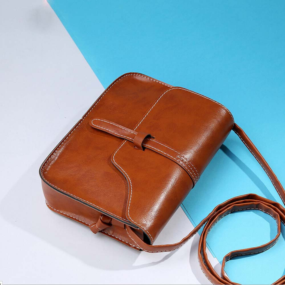 Casual Shoulder Bag simple design Ladies Cross Body Bag Vintage Purse Bag Leather Cross Body Shoulder Messenger Bag
