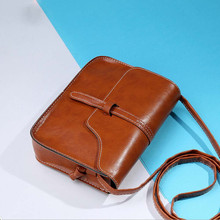 Cross simple design ladies messenger purse casual vintage shoulder body leather