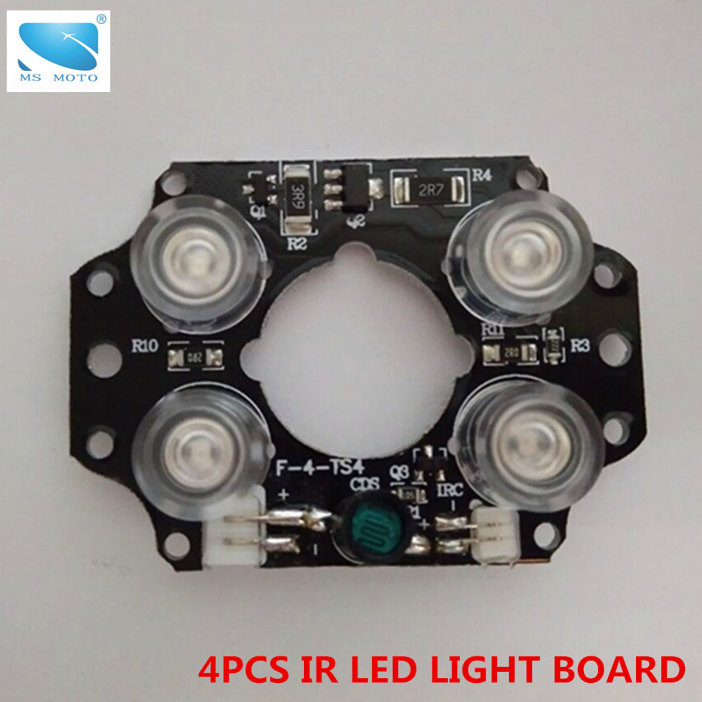 Infrared Light Board CCTV IR LED Light Board IR camera fill light 4pcs LEDs security accessory with ir cut цена